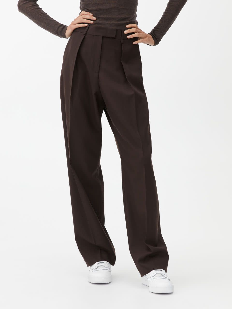 Hopsack Wool Trousers