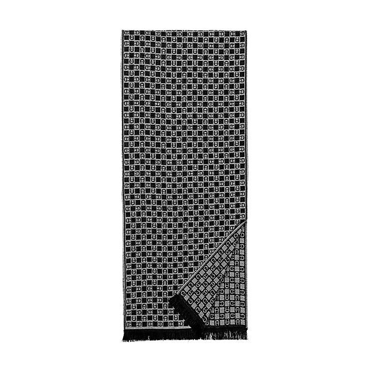 Aigner Unisex Schal Dadino M, Wolle in Slate Grey