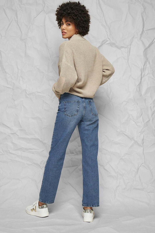 100% Organic High Rise Straight Jeans