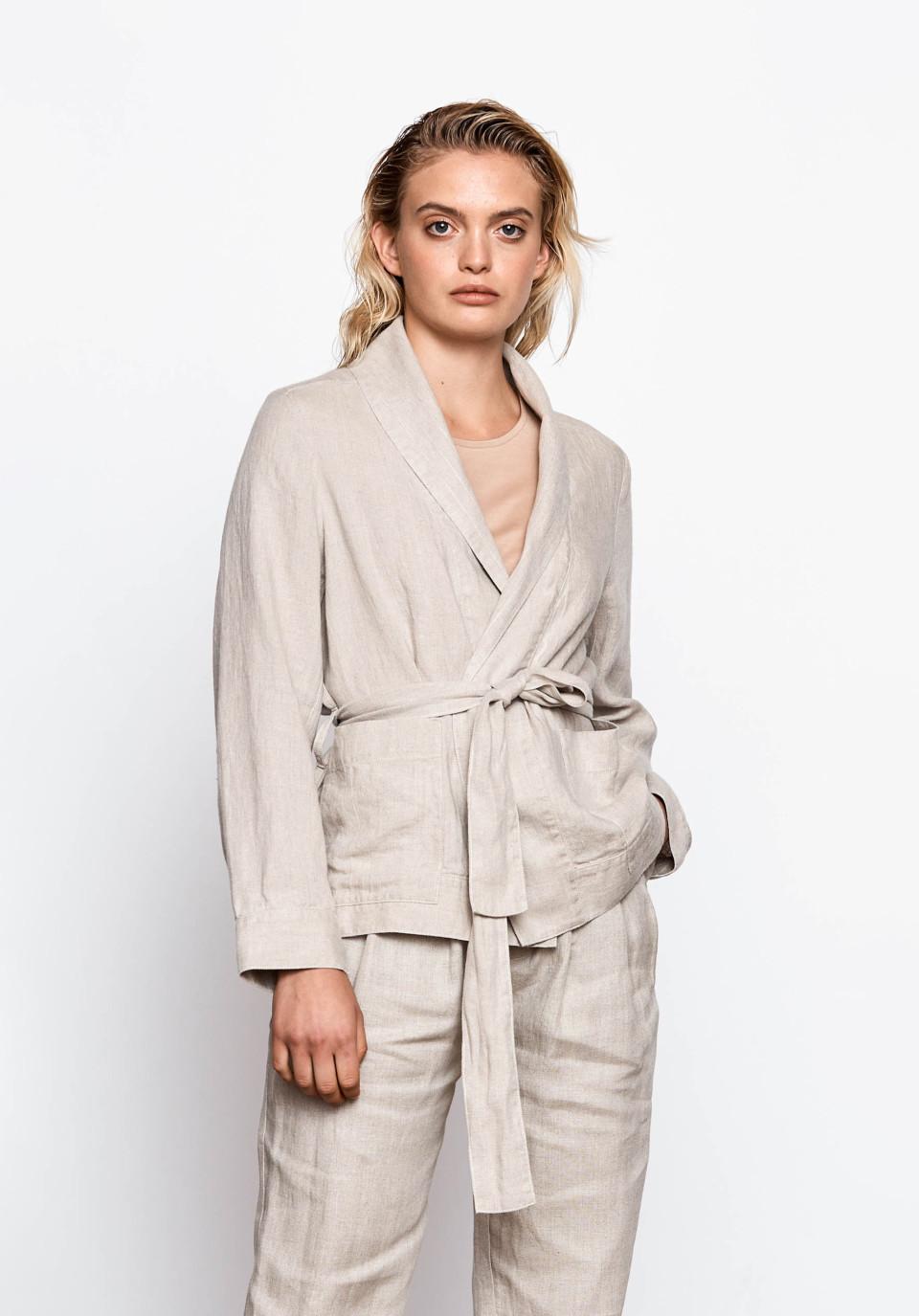 Caley Linen Jacket - Undyed