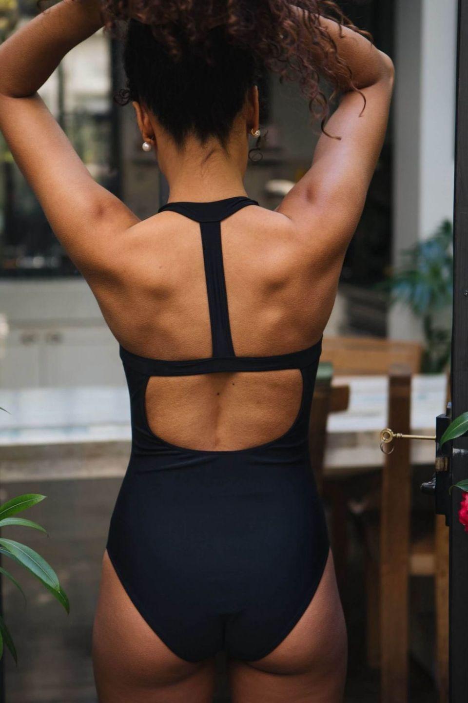 One Piece Swimsuit Pool – Black