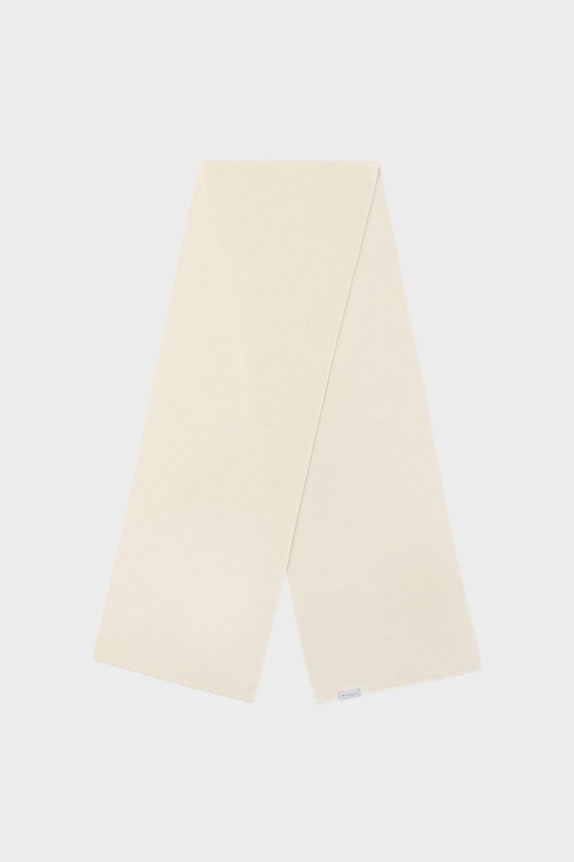 Schal aus Merinowolle Weiß