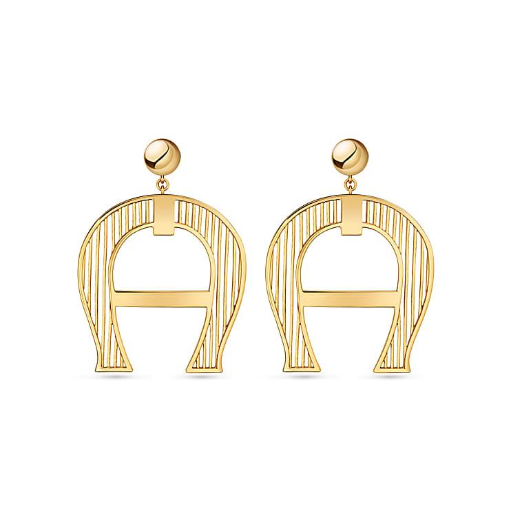 Aigner Damen A-Logo Ohrringe, in Gold