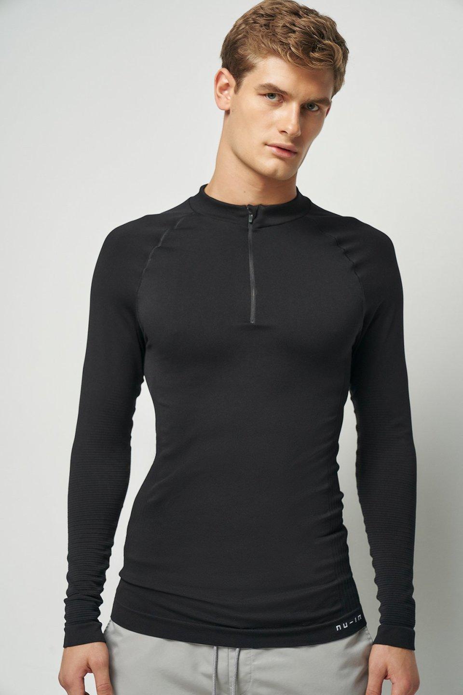 Half Zip Long Sleeve Top