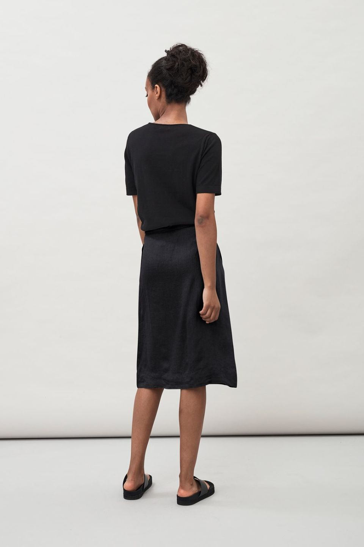 Fern Linen Skirt - Black