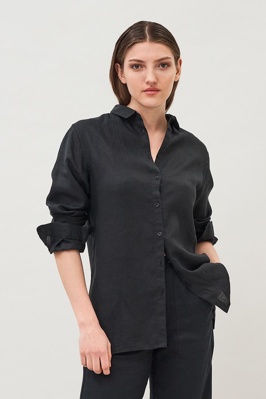 Valetta Linen Shirt - Black
