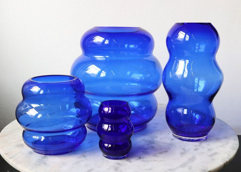 MARSANO 'Muse' Collection Vases - Blue