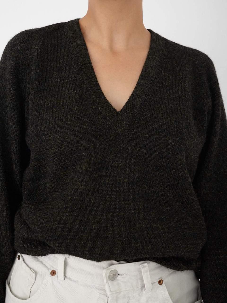 Melange V Neck Knit
