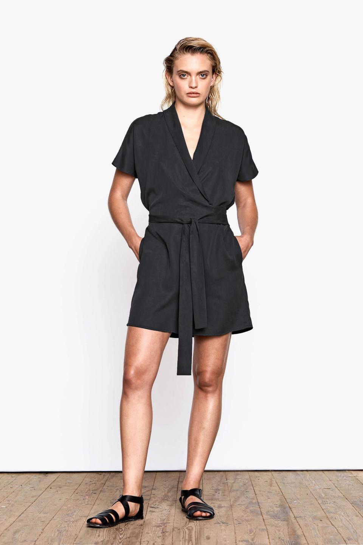 Lea Tencel Jumpsuit - Black
