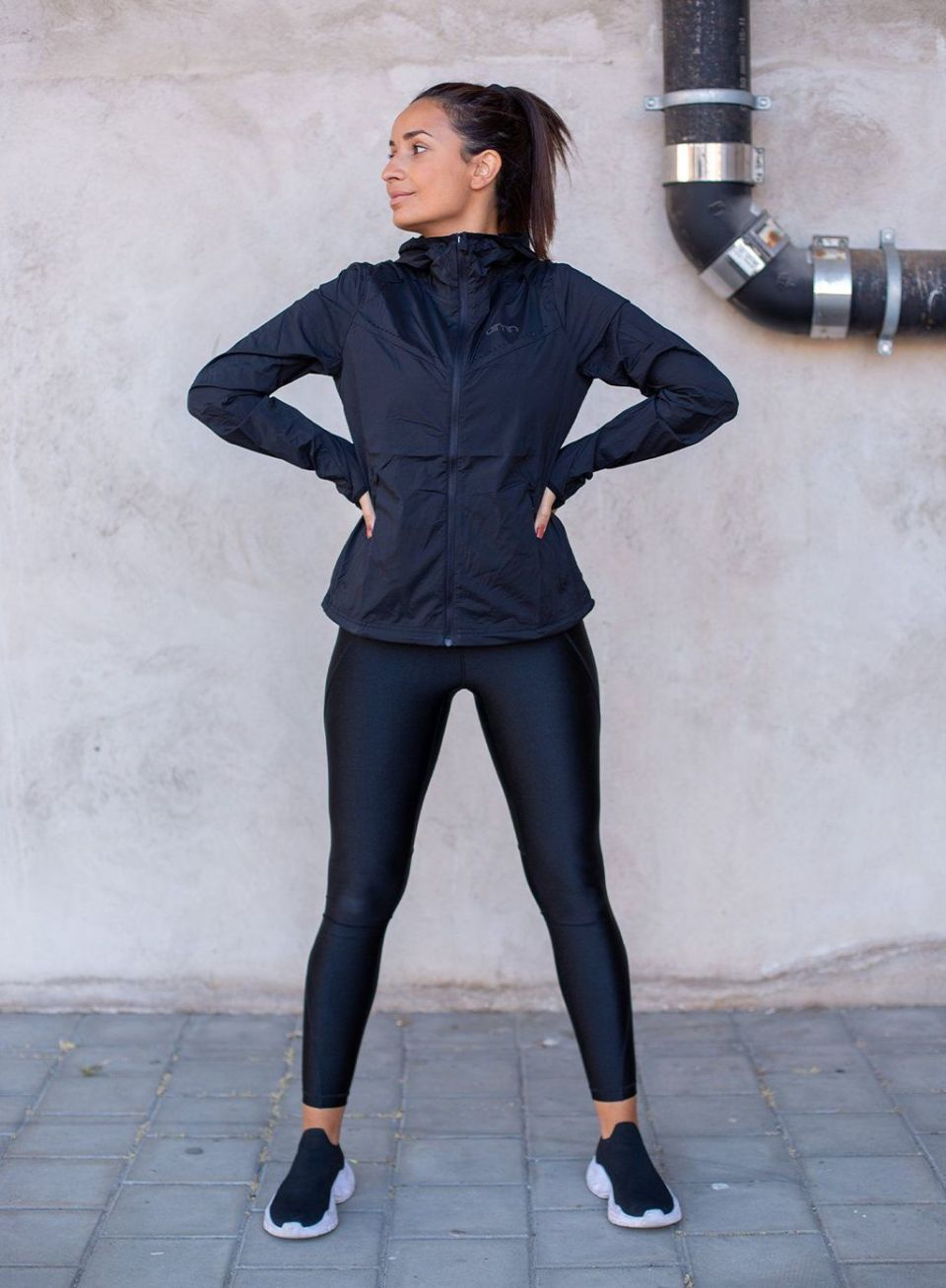 Black Pace Hood Jacket