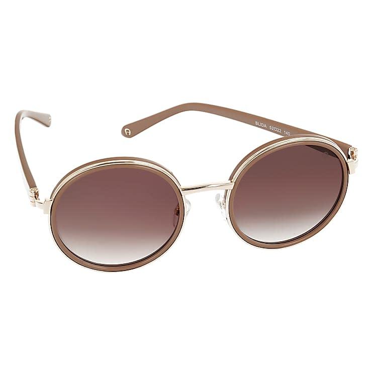 Aigner Damen Blida Sonnenbrille runde Gläser, in Braun