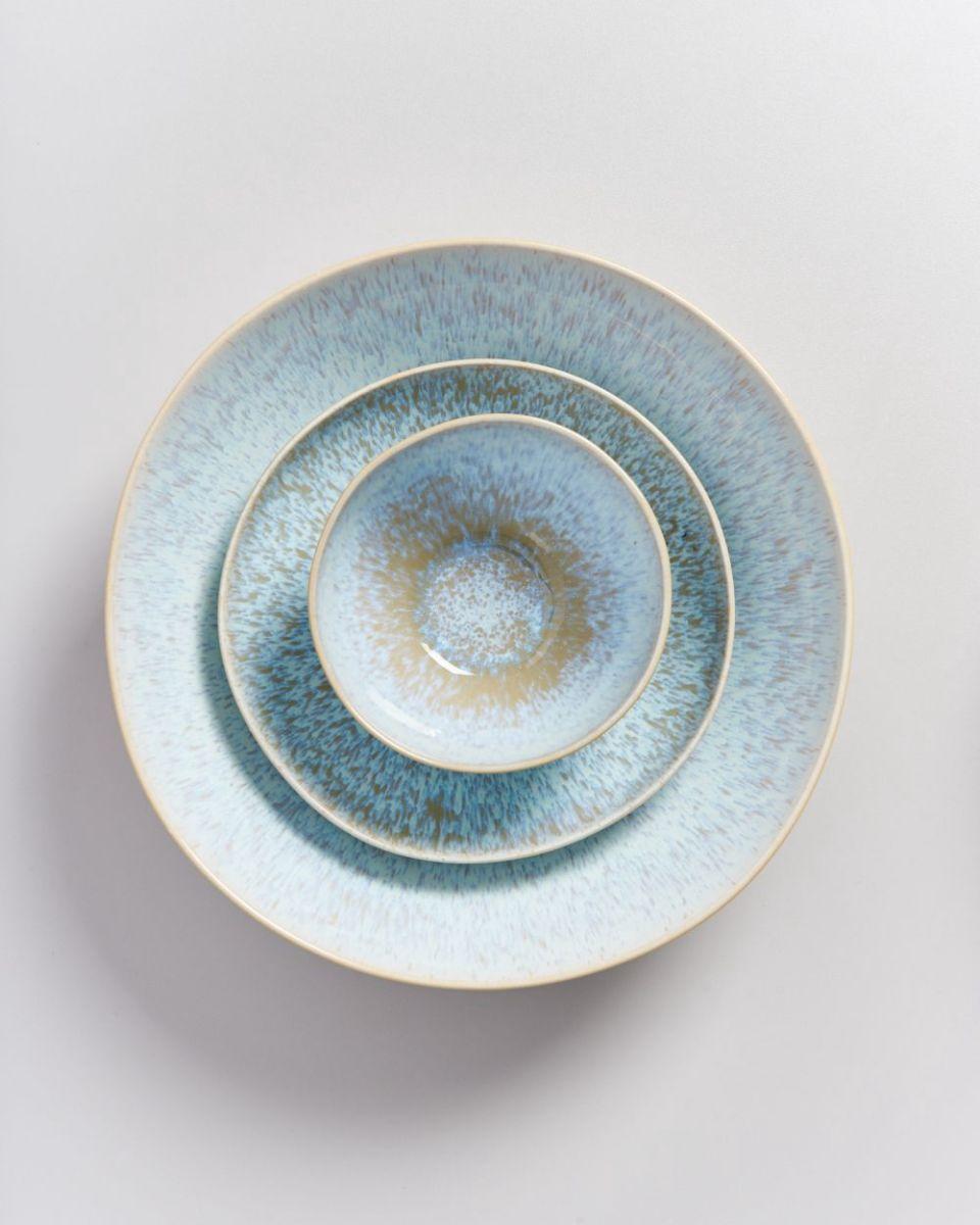 AREIA - Servingbowl big flat azur