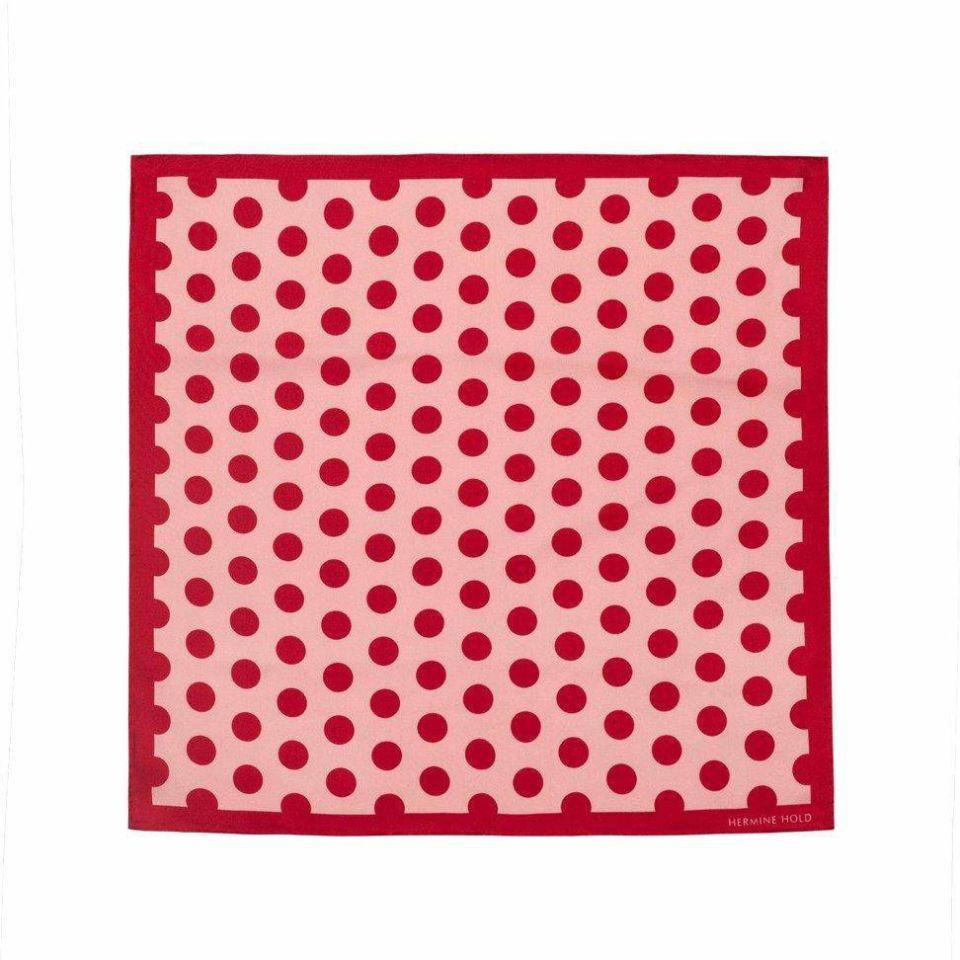 Single Dot Silk Scarf - Red & Pink