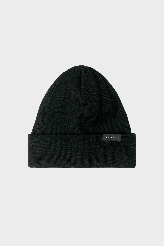 Klassische Mütze Baumwolle Fein Schwarz