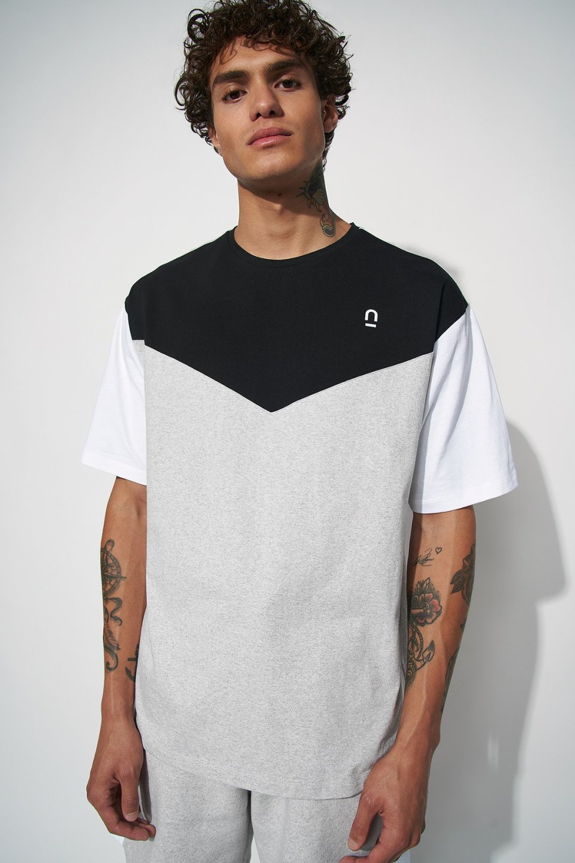 Colour Block Panel T-shirt