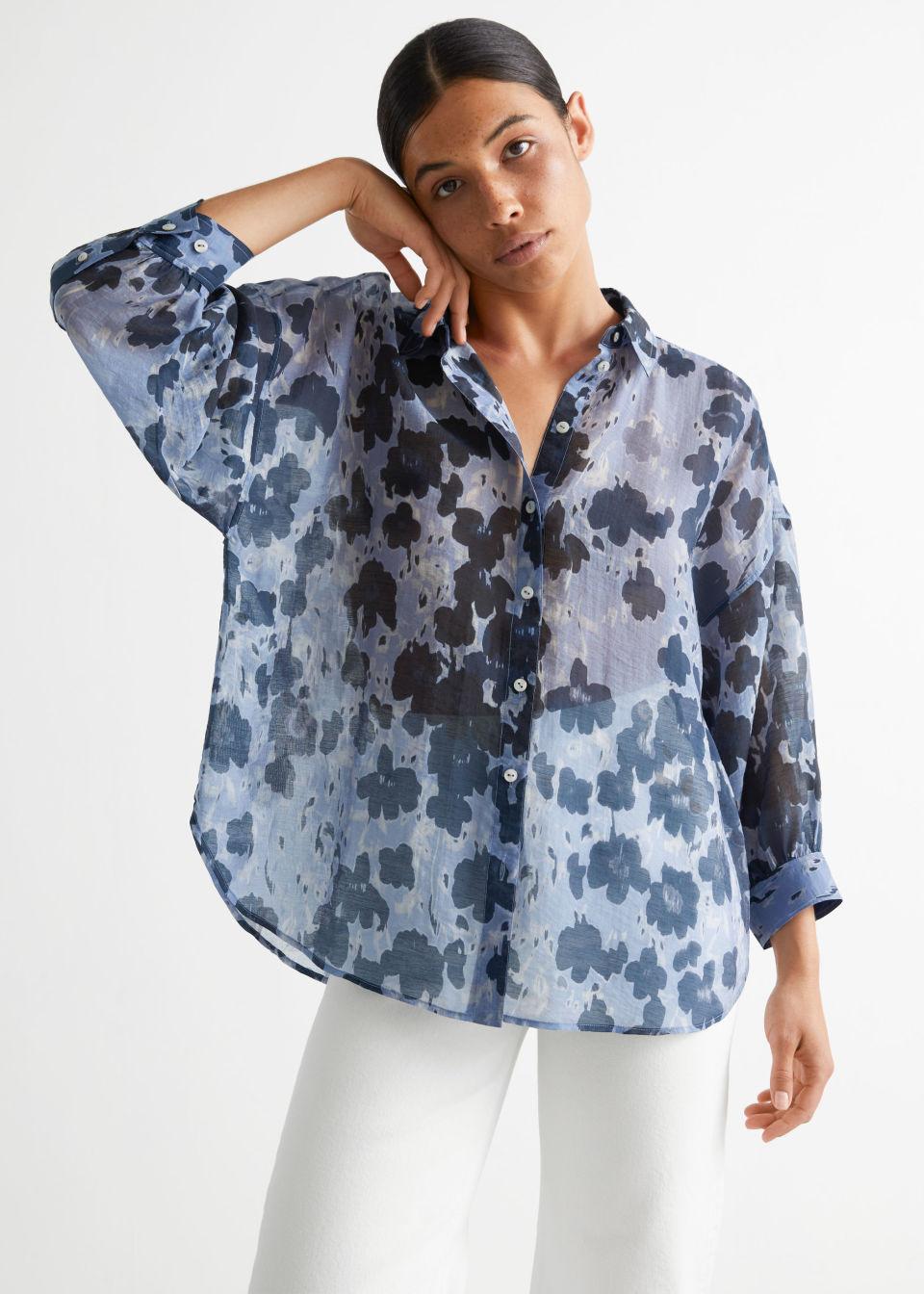 Printed Voluminous Shirt