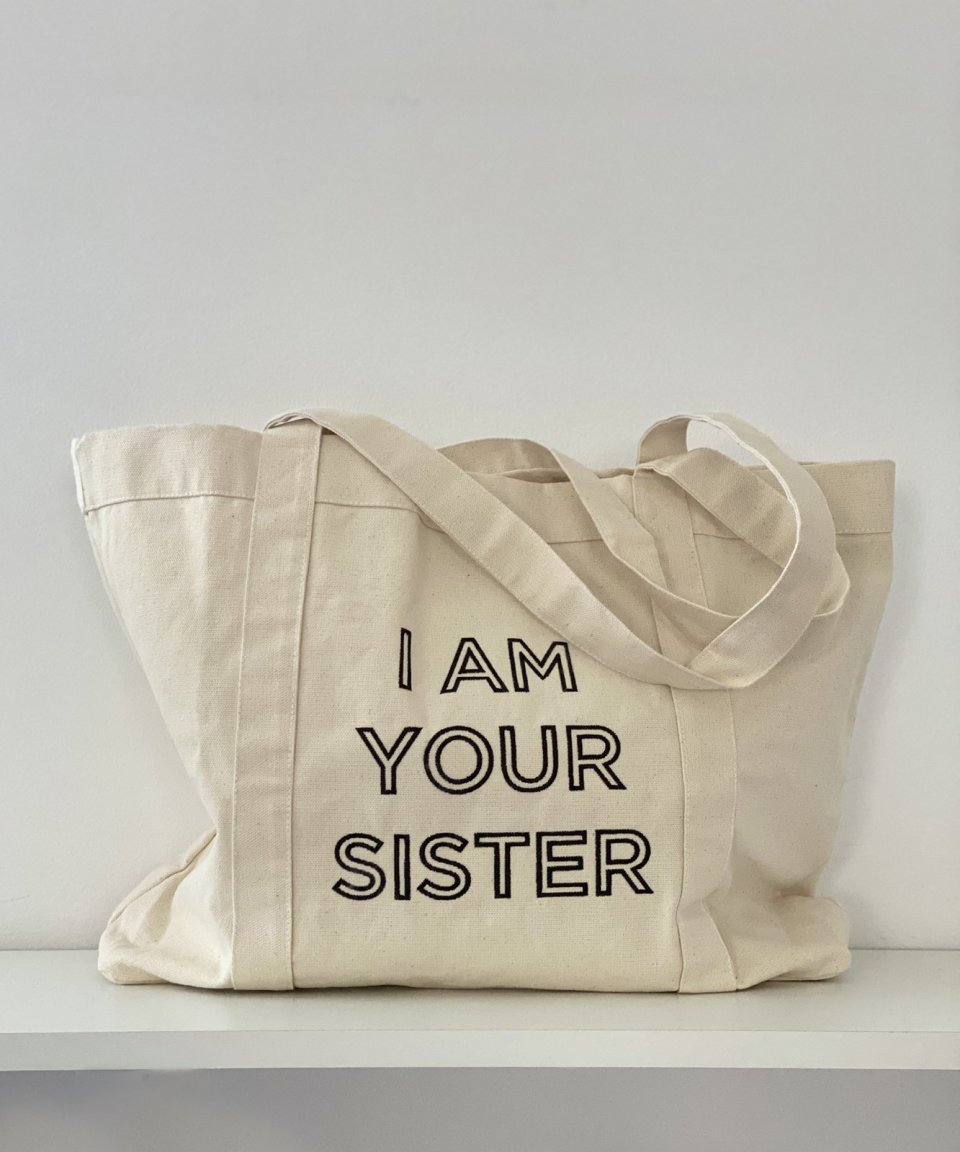 Lucie tote bag - WHITE