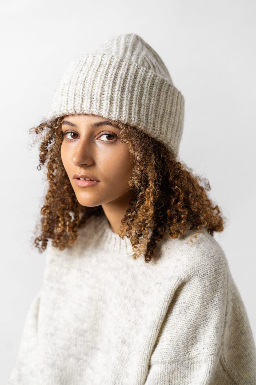 Ly Knitted Beanie Sand Melange