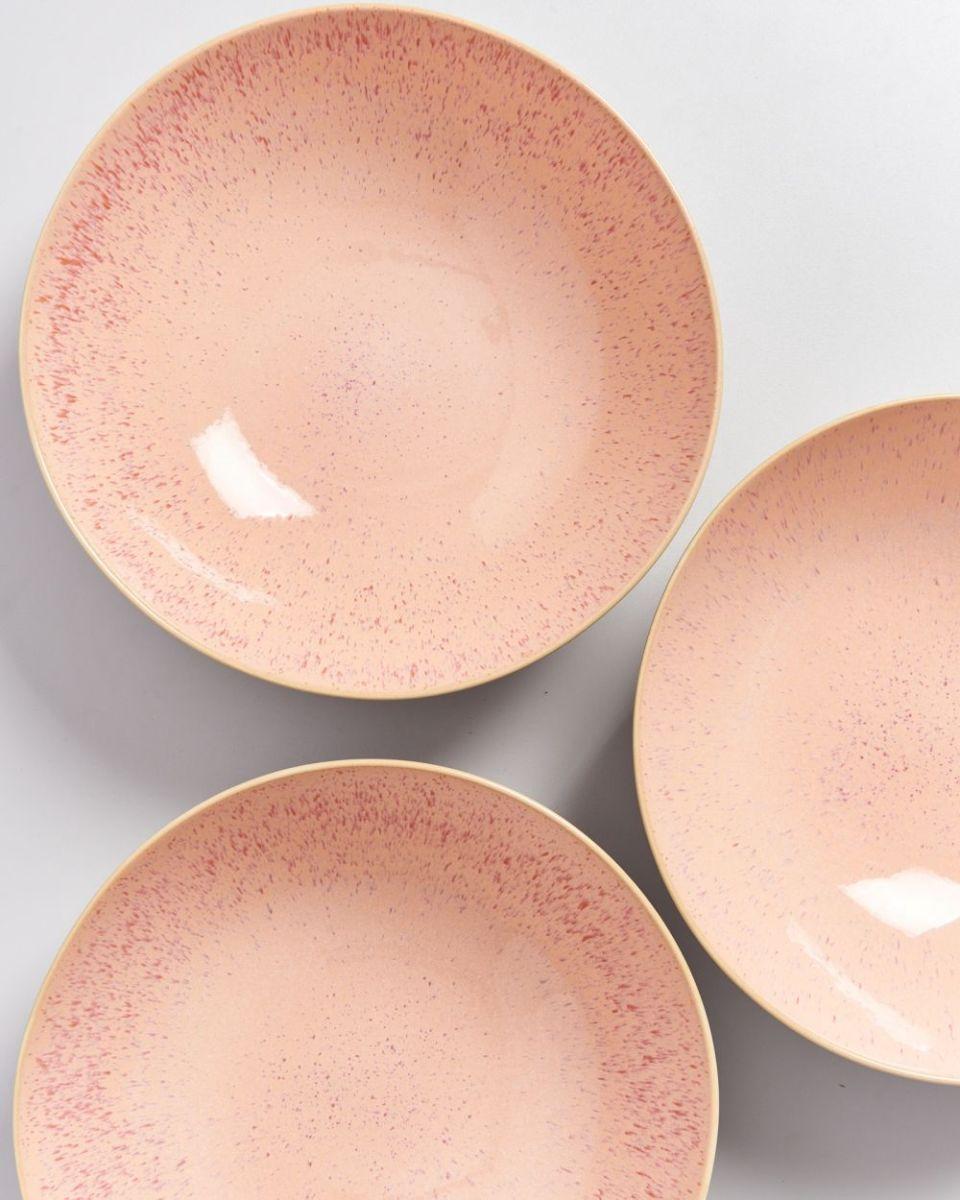 AREIA - Servingbowl big flat pink