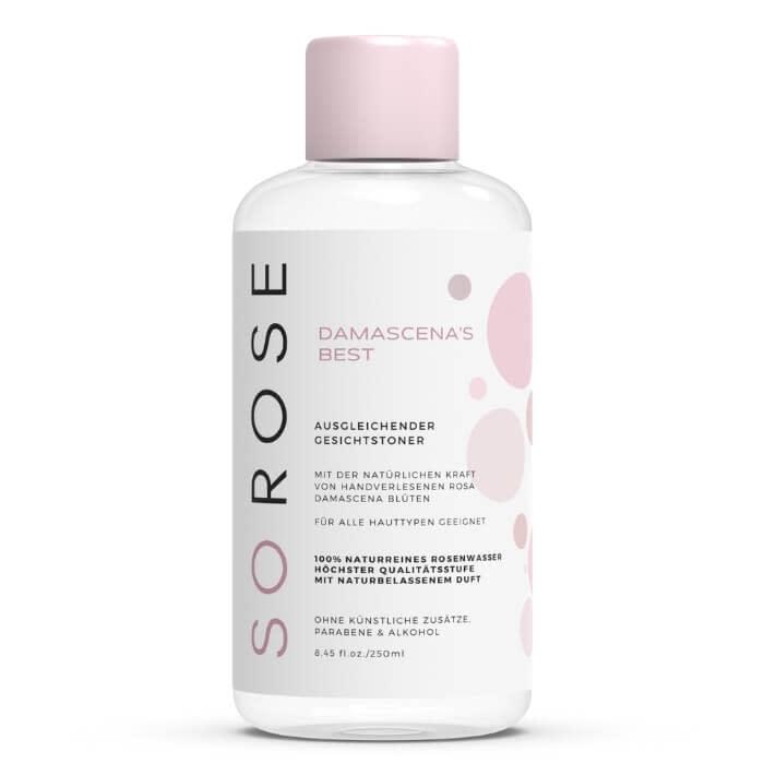 SOROSE® DAMASCENA'S BEST    Ausgleichender Gesichtstoner mit Polyphenolen, Antioxidantien & Vitaminen    100% naturrein
