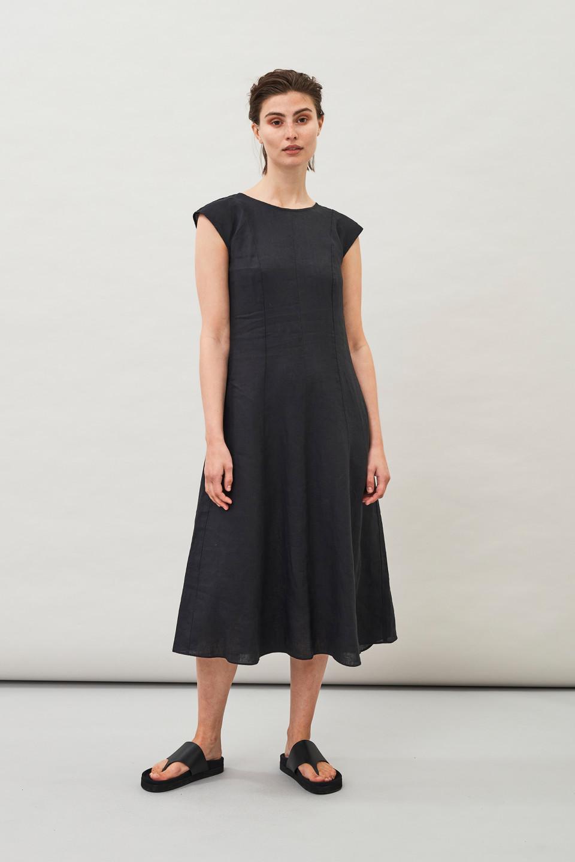 Hopi Linen Dress - Black