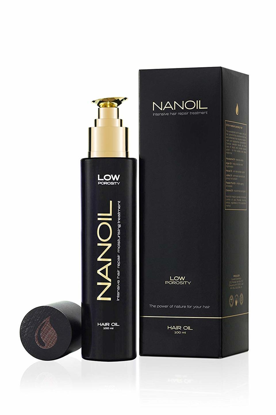 Haaröl Nanoil für geringe Porosität
