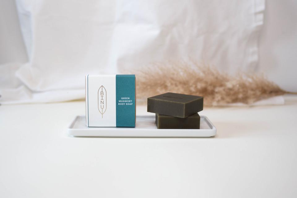 BINU Green Mugwort Body Soap