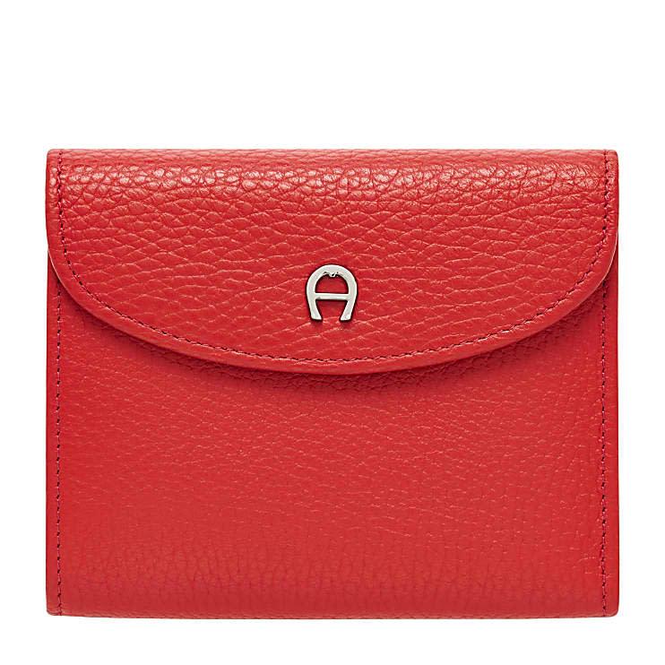 Aigner Damen Basics Kombibörse, Prägung in Rot
