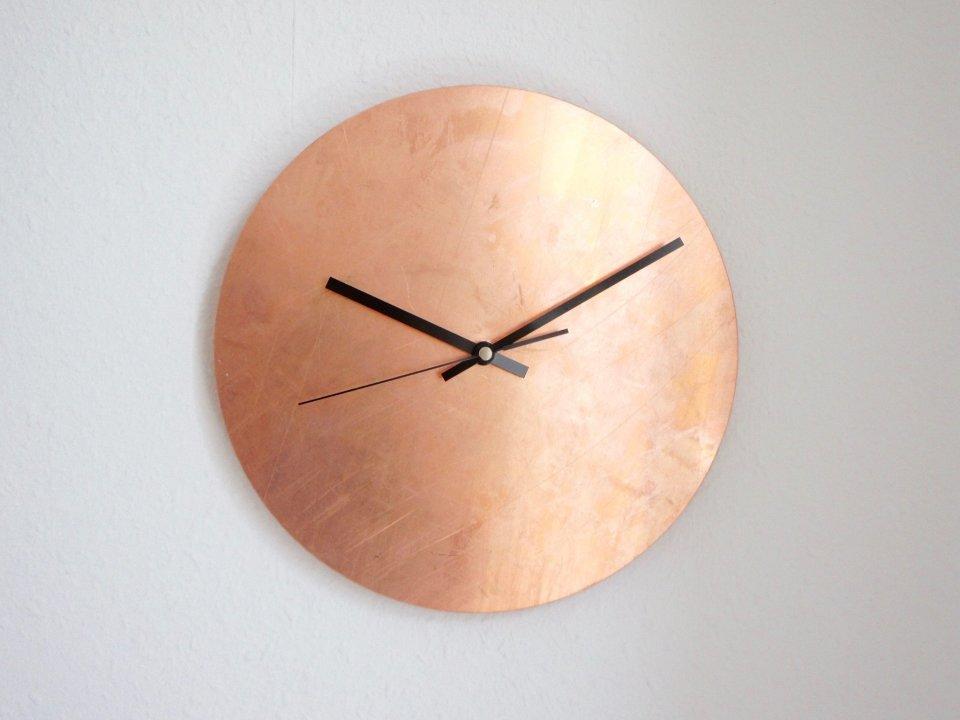 Copper Raw - mehrere Größen - Wanduhr