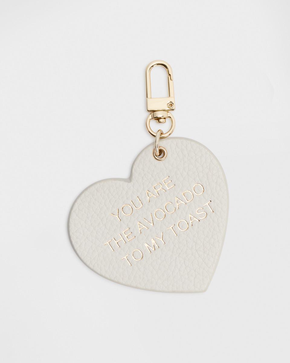 Heart Charm - White Gold