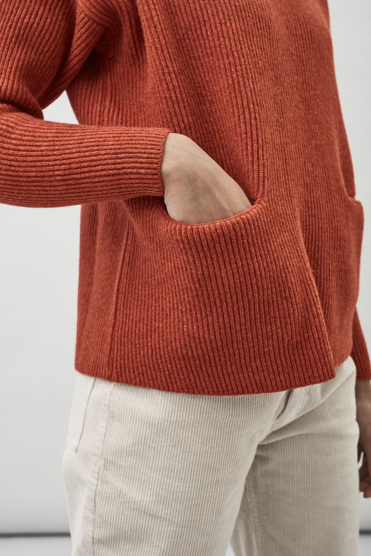 Helga Pocket Sweater - Carnelian Red