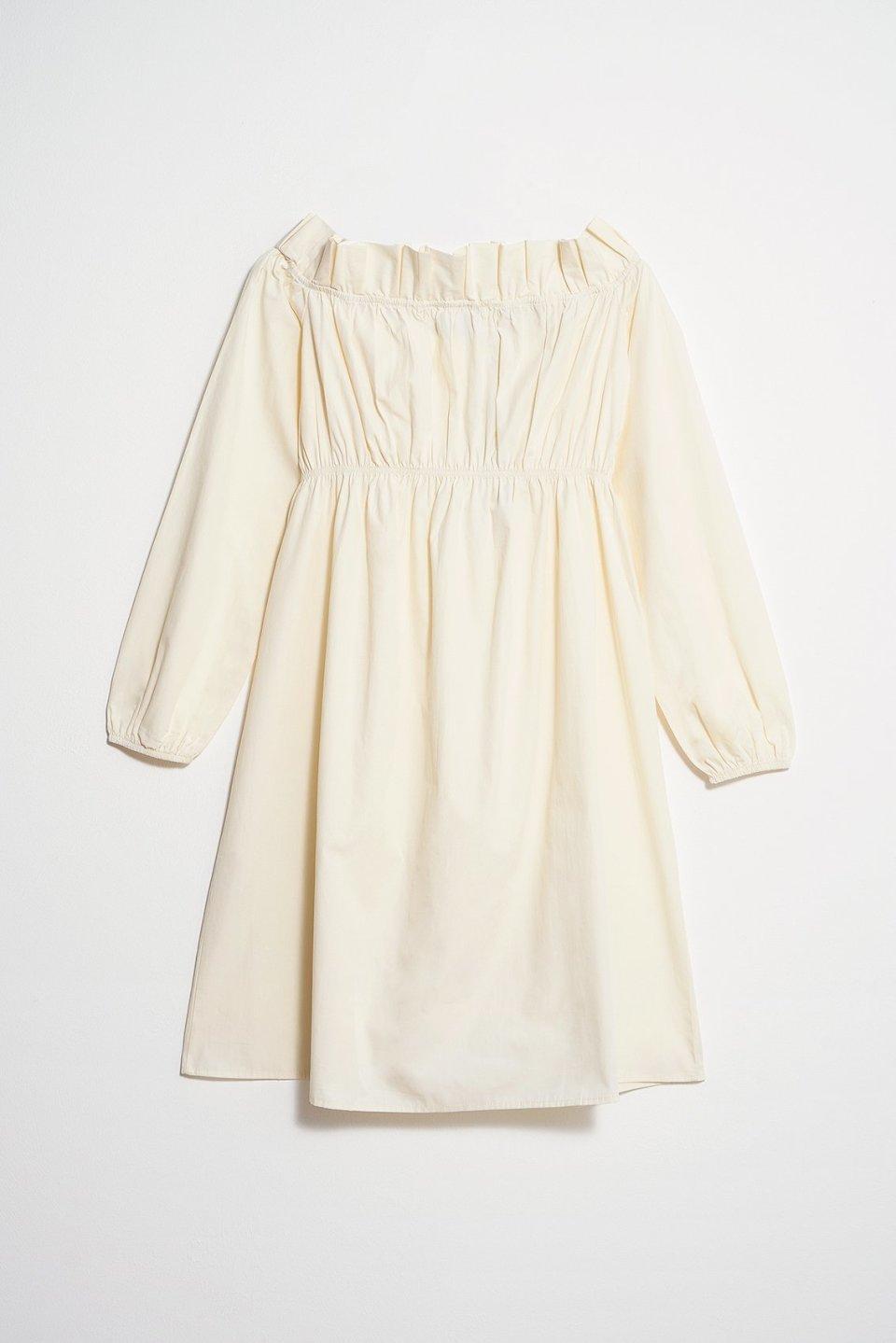 100% Organic Off Shoulder Smock Mini Dress