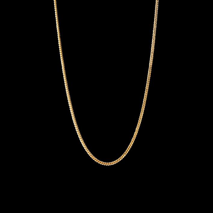 Curb Chain, vergoldetem Sterlingsilber