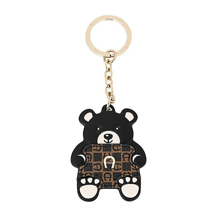 Aigner Damen Schlüsselanhänger Teddybär Dadino, Logo in Schwarz