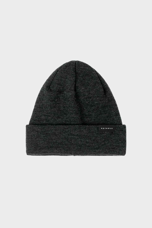 Klassische Mütze Merino Fein Anthrazit