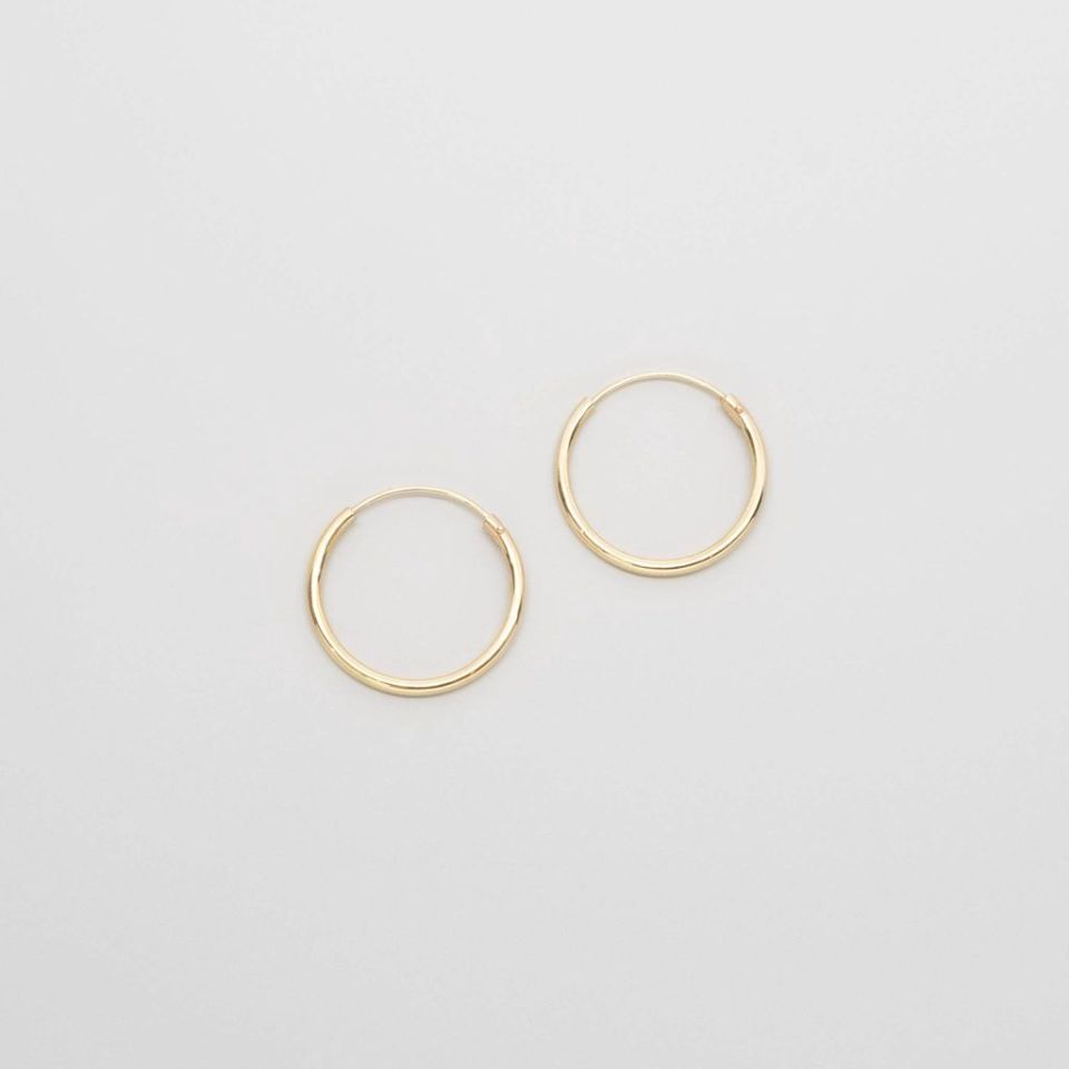simple hoops   solid gold - XS / S / M