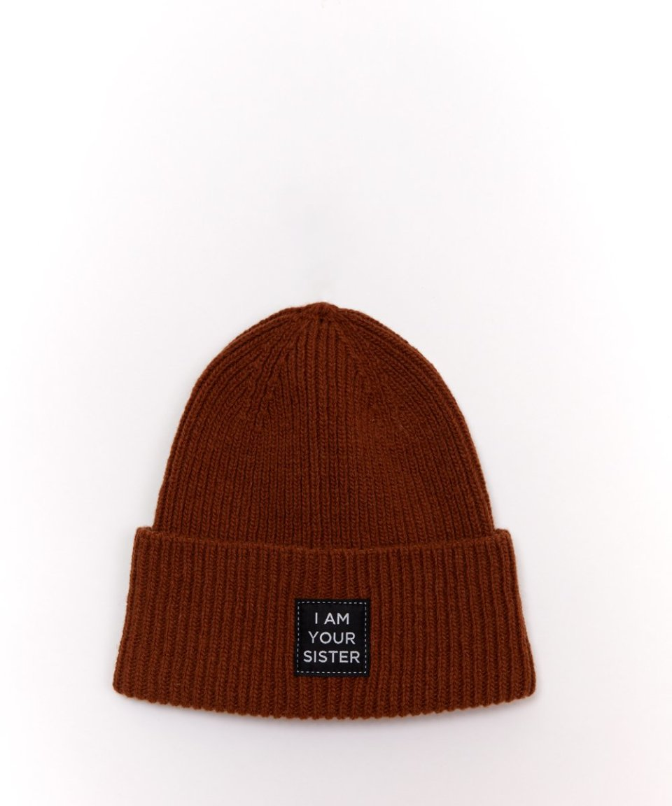 Brown Knitted Beanie