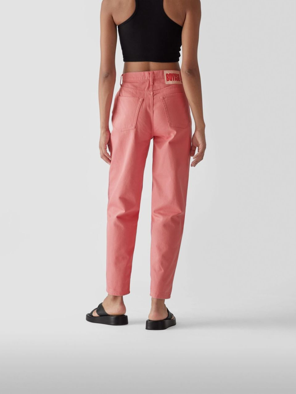 High Waist Tapered Fit Jeans