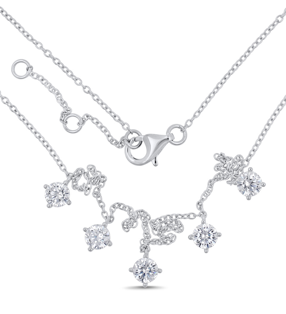 Necklace MILA multi - silver