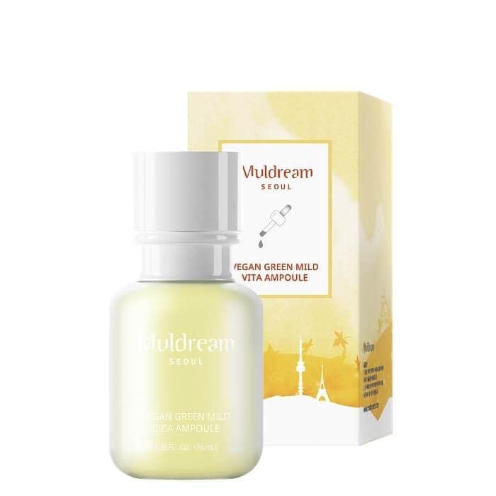 GREEN MILD VITA AMPOULE   Ampoule-Serum mit Multi-Ceramiden, Adenosine & Panthenol (müde, dünner werdende Haut)