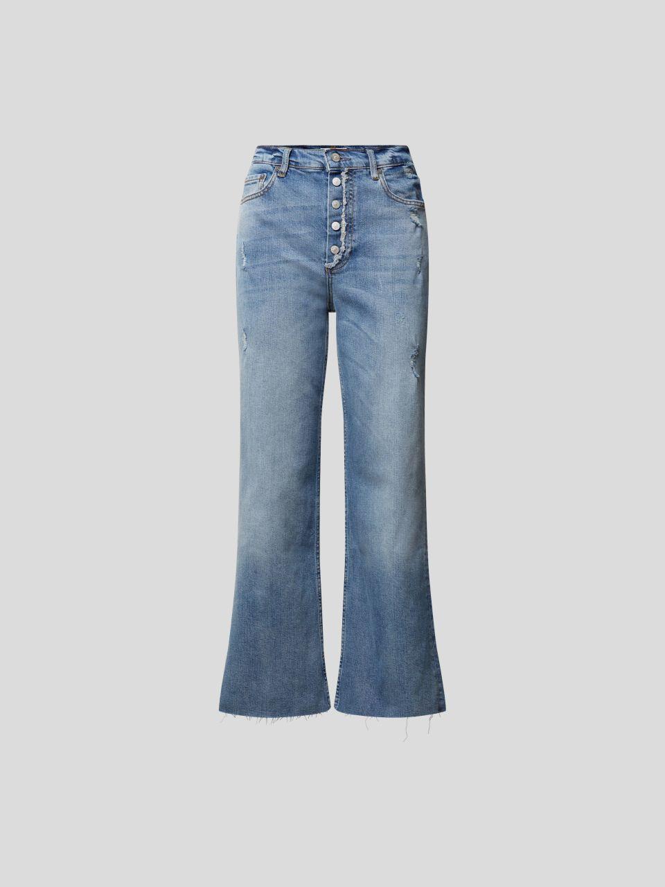 High Waist Jeans aus Baumwolle