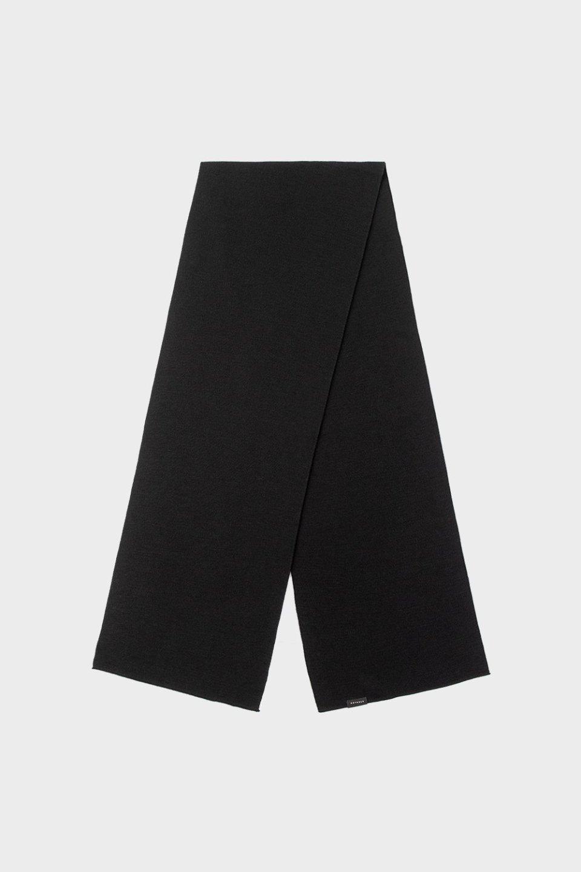 Schal aus Merinowolle Schwarz