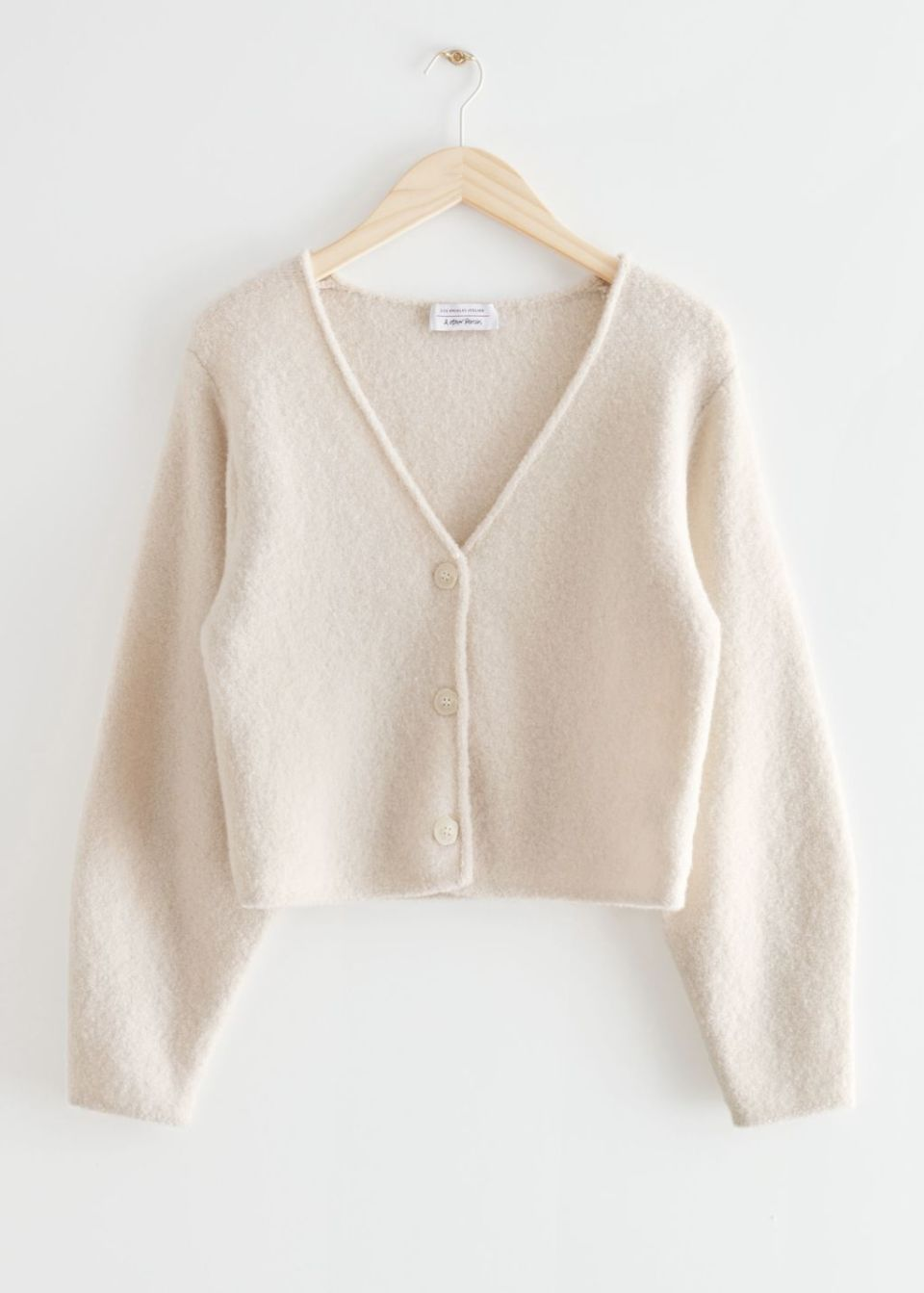 Boxy Wool Knit Cardigan