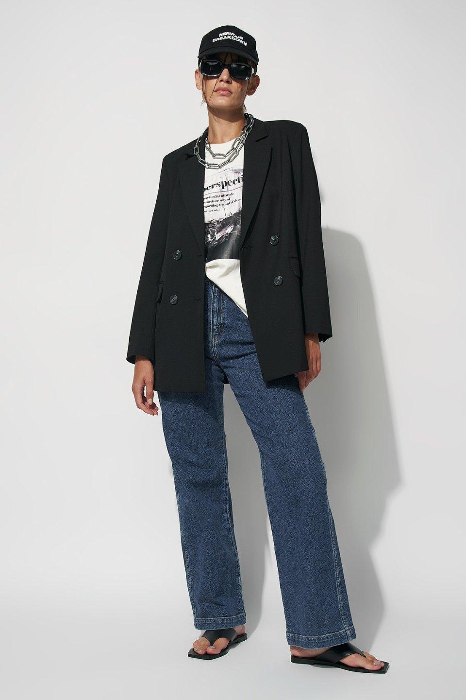 High Rise Wide Leg Jeans RA303