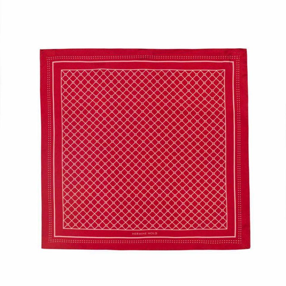 Hermine Silk Scarf - Red & Pink