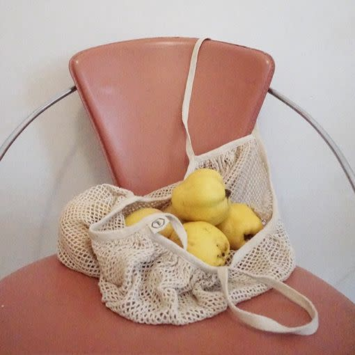 Mesh bag for fruit and vegetables (organic cotton)