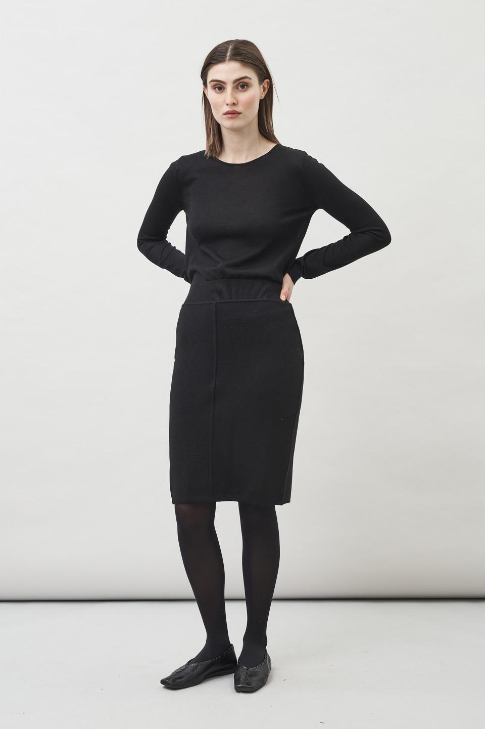 Aurora Pencil Skirt - Black