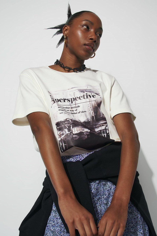 100% Organic Graphic Print T-shirt