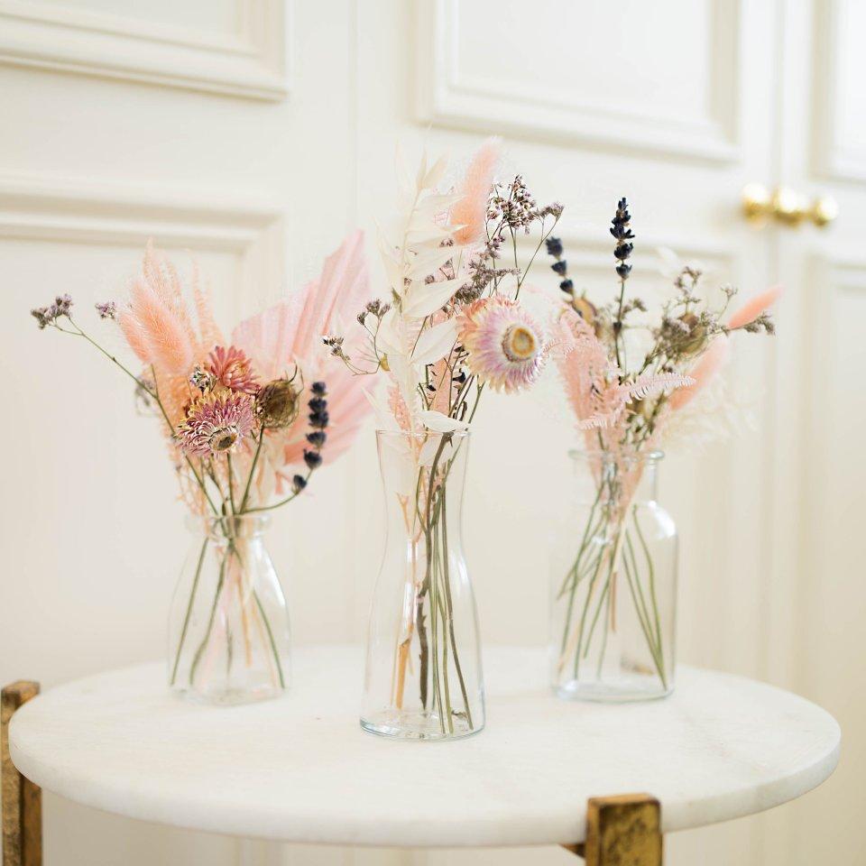 Pink Charm Jars - Dried Flowers