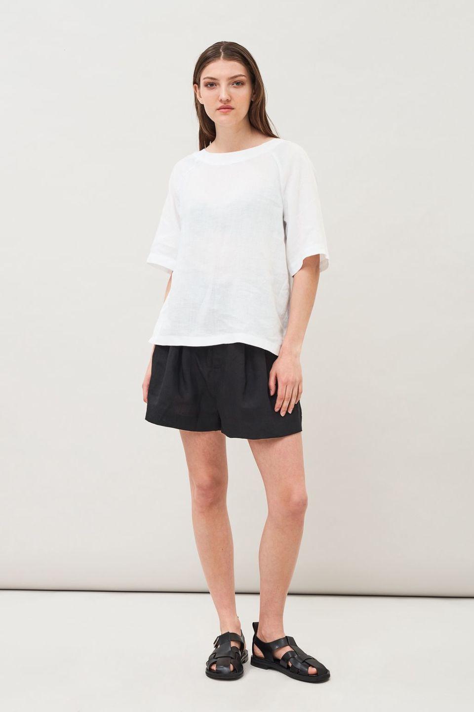 Tala Linen Blouse - White
